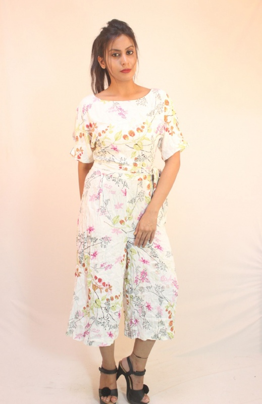 modern style amazing selection later M and S White and Pink floral Jumpsuit from Marks and ...