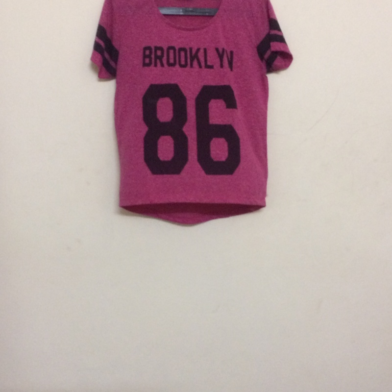 eb3ac5094 Pink brooklyn 86-printed scoop-neck shirt from NEXT – coutloot.com