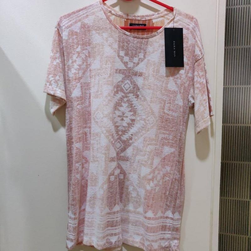 8d03326ff9c0 Brown crew-neck t-shirt dress from Zara – coutloot.com