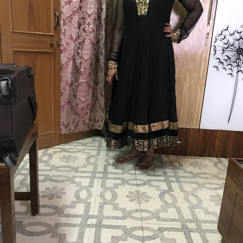 67aa4a9d6fd Black long sleeves kurti with churidar from StyleTribe – coutloot.com