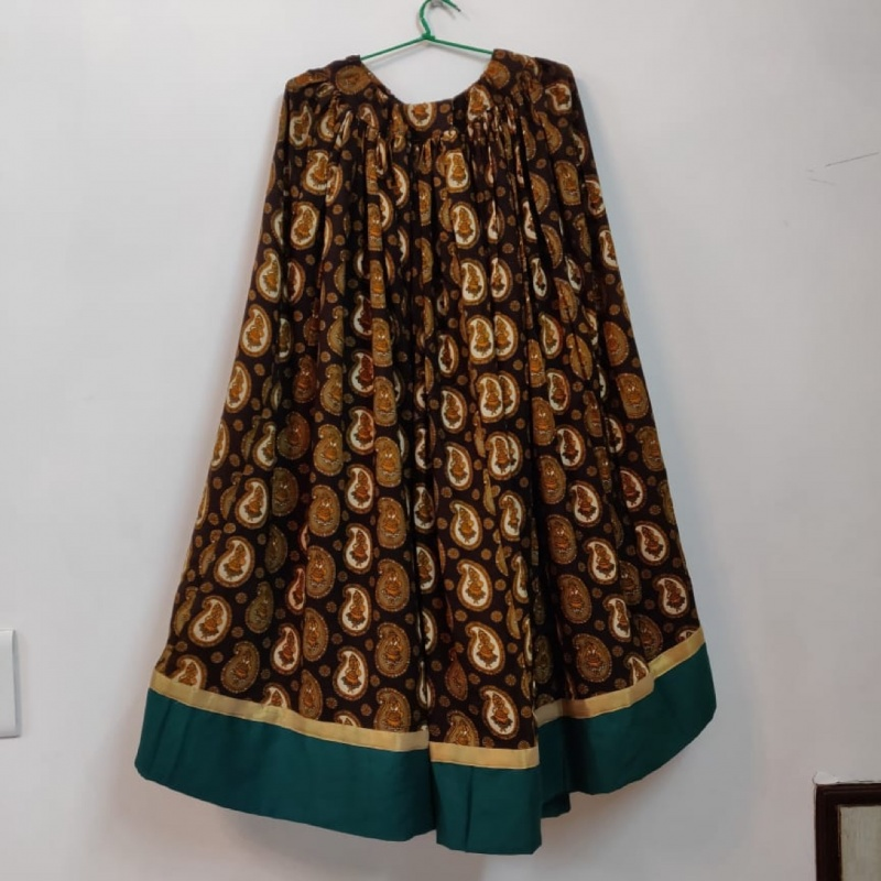eaa080174af Brown chaniya with dupatta and blouse piece from StyleTribe – coutloot.com