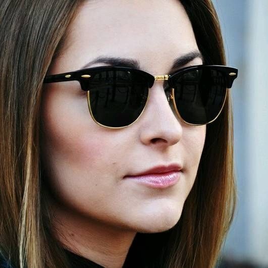 rayban Black Glass Black framed Gold finish Clubmaster-style sunglasses for  Women New stylish Fancy trendy Ray Ban Goggles from Ray Ban – coutloot.com 1b2a7f2748
