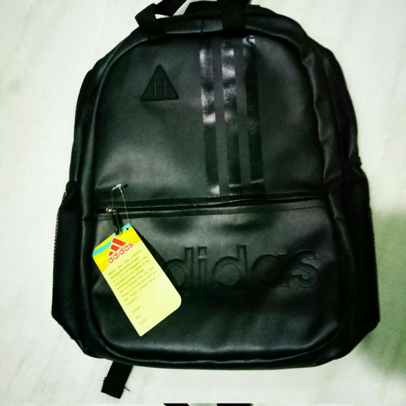 e085e30d85e3 Black adidas leather backpack from ADDIDAS – coutloot.com