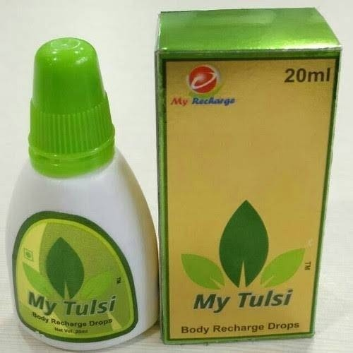 My Tulsi body recharge drops bottle with box