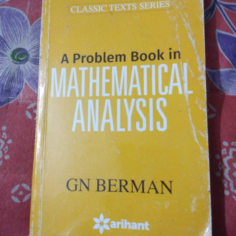 A Problem Book in Mathematical Analysis by GN Berman book