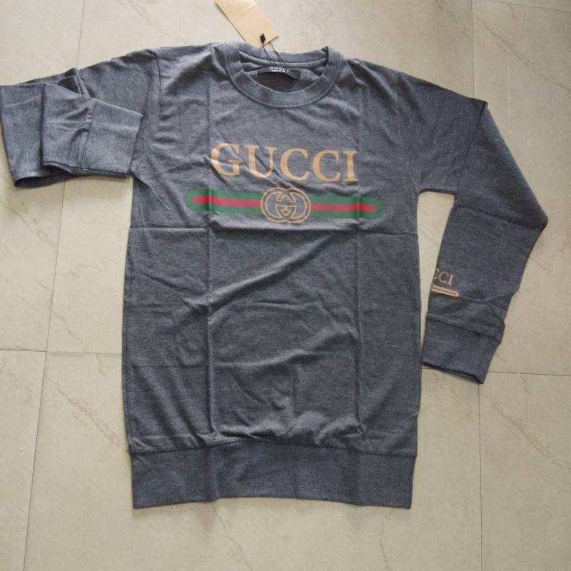6ea15b0da gucci print T- shirt grey size M cotton men women from Club Factory –  coutloot.com