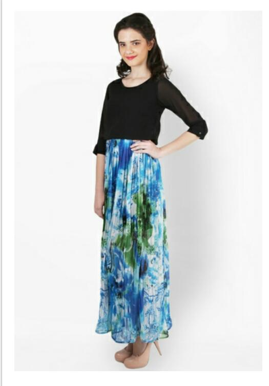 c7e21b67f57 Multicoloured Maxi Printed Dress from Club Factory – coutloot.com