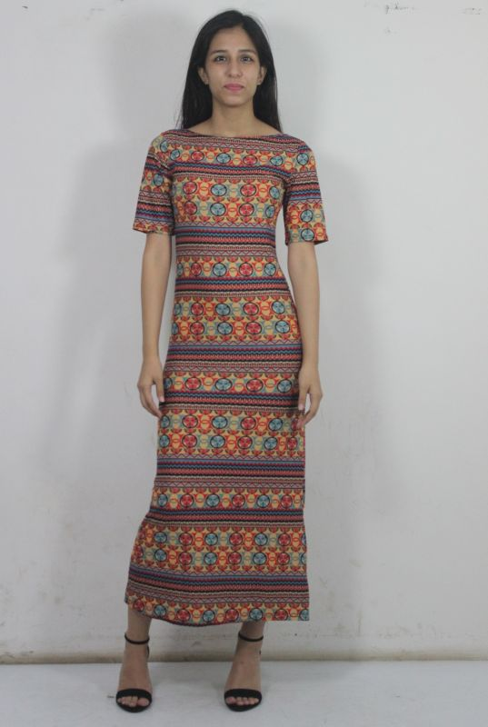 ae802858f1a Multicoloured Ethnic Print Dress from Club Factory – coutloot.com
