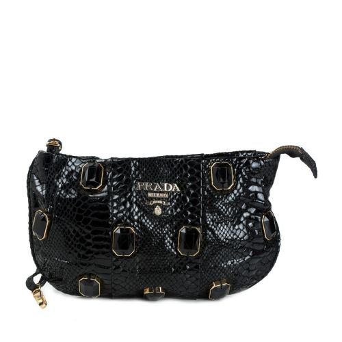 1adccab89571 Prada Black Pietre Jeweled Wristlet Clutch from Prada – coutloot.com