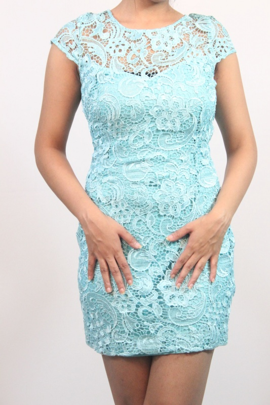 Sea Blue Lace Dress From Riv9 Coutlootcom