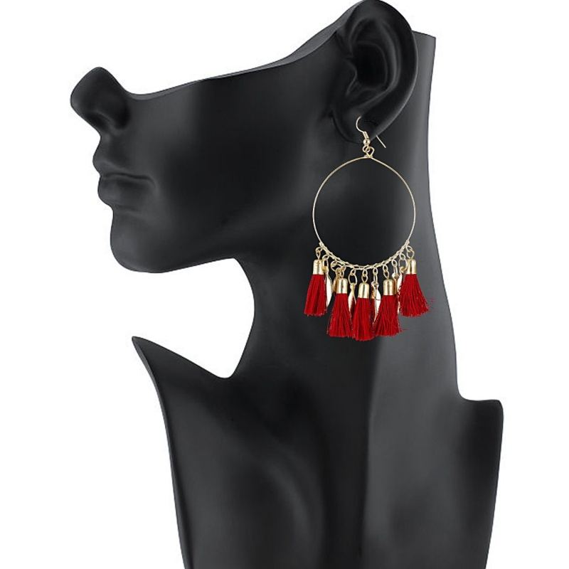 1a40f4ac544487 De Novo Red Tassle Earrings for Girls Women for casual Look from De Novo –  coutloot.com